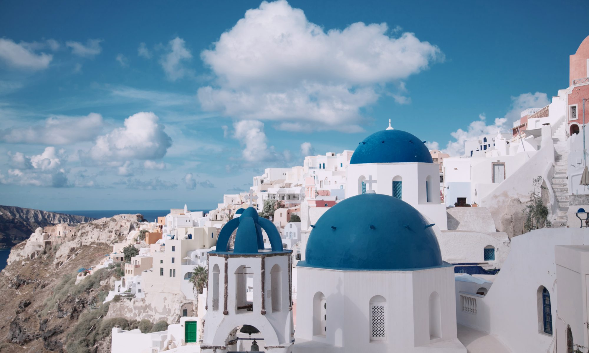 Canva - Photo of Santorini, Greece